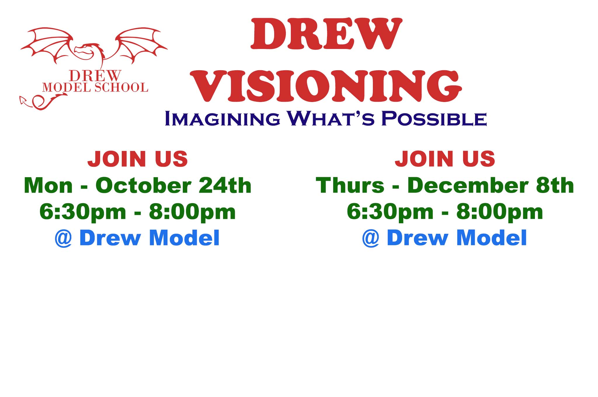 Get Involved in Drew's Future