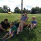 family enjoying day
