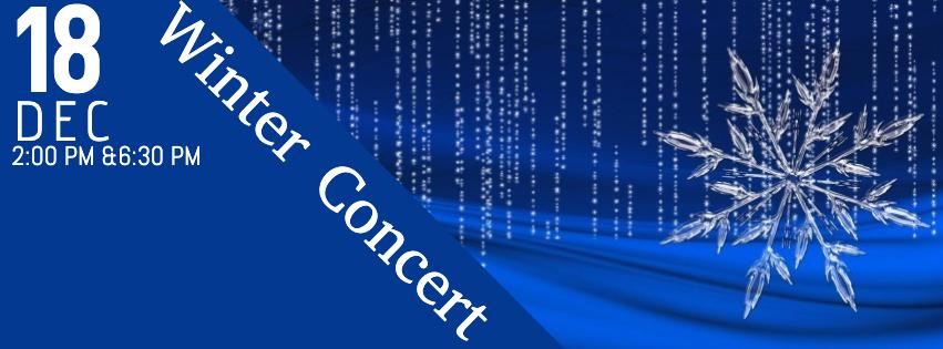 Winter Concert – Wednesday, December 18th